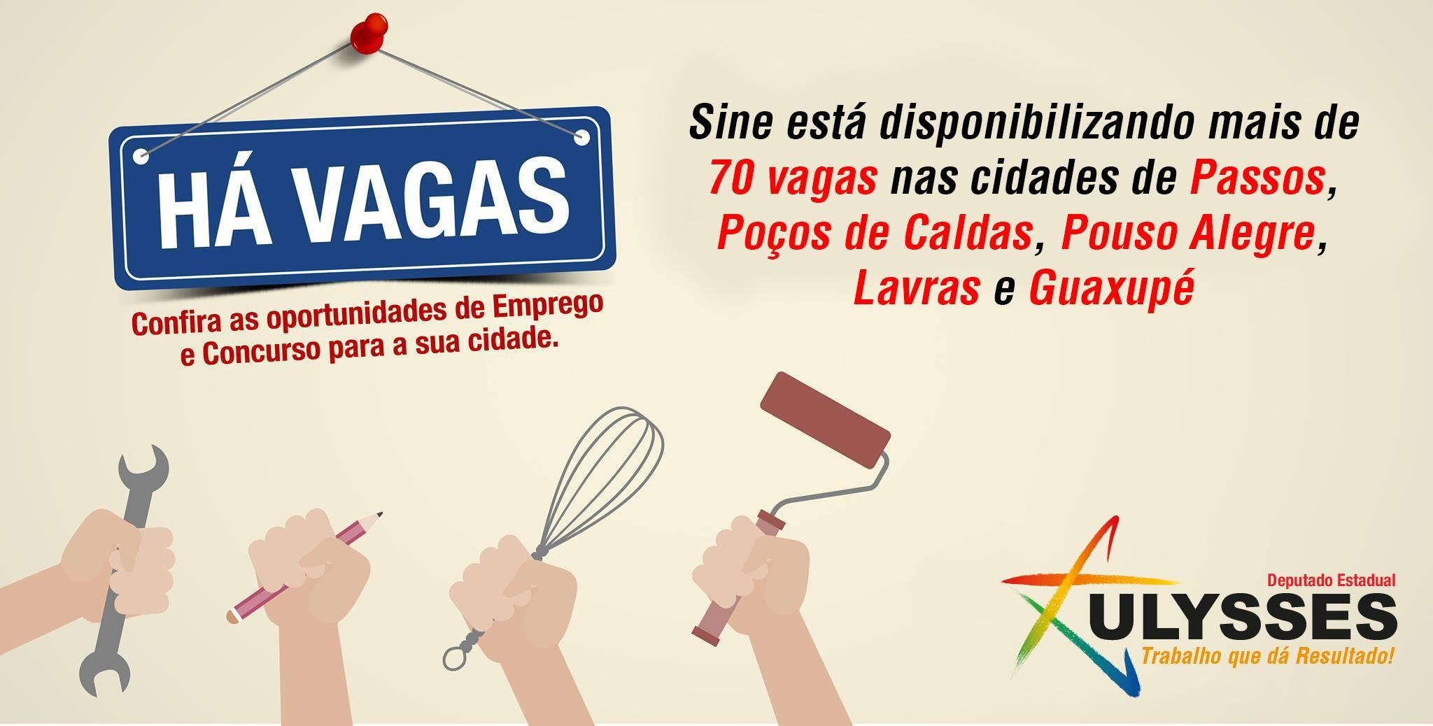 Sine oferece mais de 70 vagas de emprego no Sul de Minas